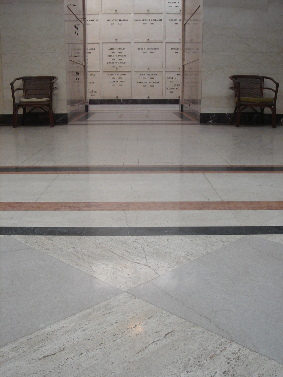 Mausoleum interior.