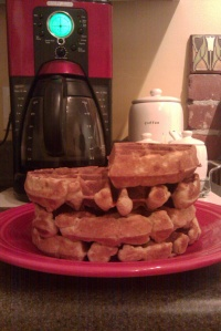 Bacon and Smoked Apple Cheddar Waffles
